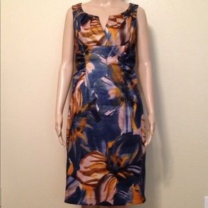 Adrianna Papell colors of Fall dress, size 6